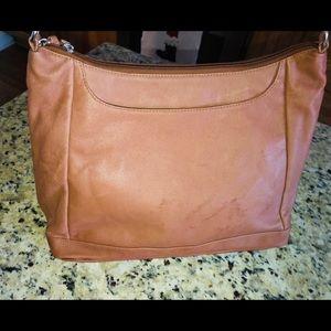 Genuine leather hobo style purse